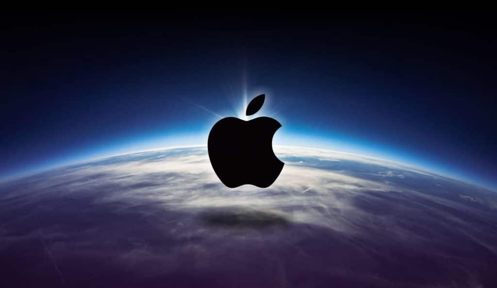 jorden med apple logo