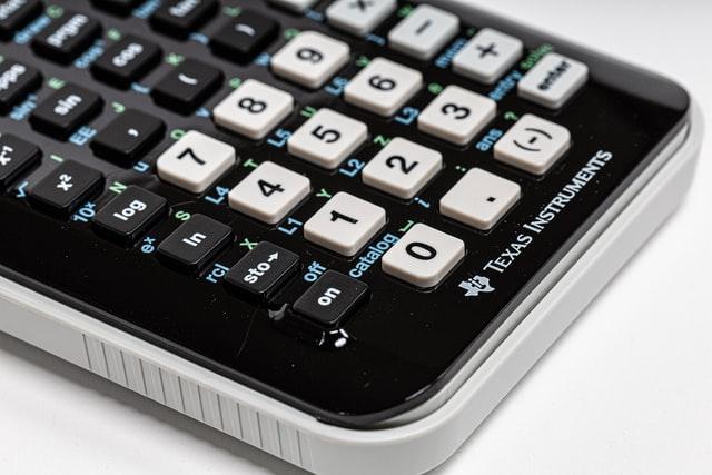 En miniräknare.